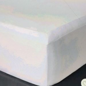 White solid box spring cover twin new